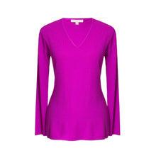 Load image into Gallery viewer, Purple Cashmere Tora V Neck Sweater