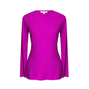 Purple Cashmere Tora V Neck Sweater