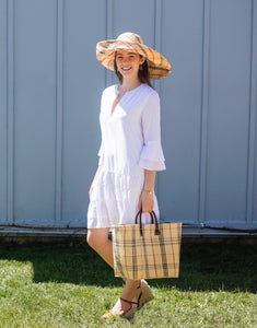 White Ruffle Sleeved Dress