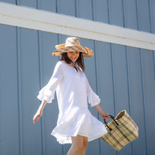 Load image into Gallery viewer, White Ruffle Sleeved Dress