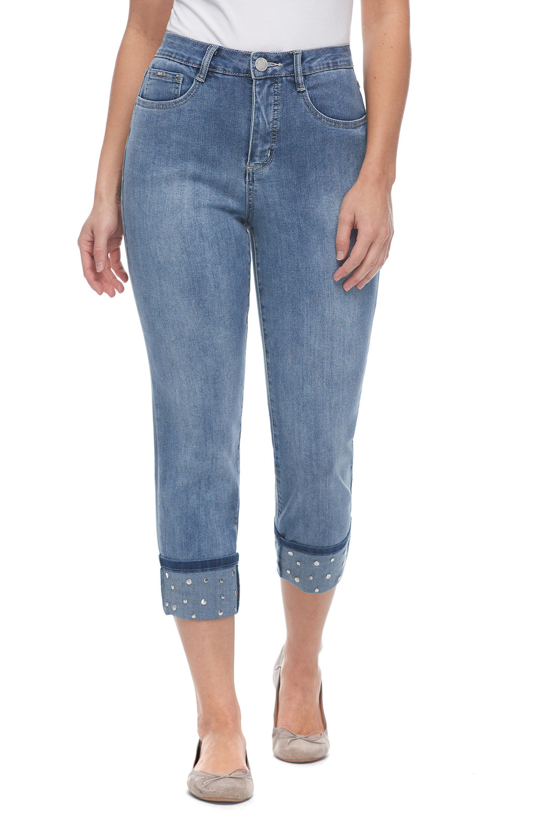 Suzanne Roll-Up Crop Jean