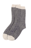 Luxe Braided Cashmere Lounge Socks