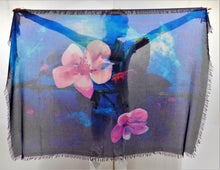Load image into Gallery viewer, Cherry Blossom Silk Blend Scarf