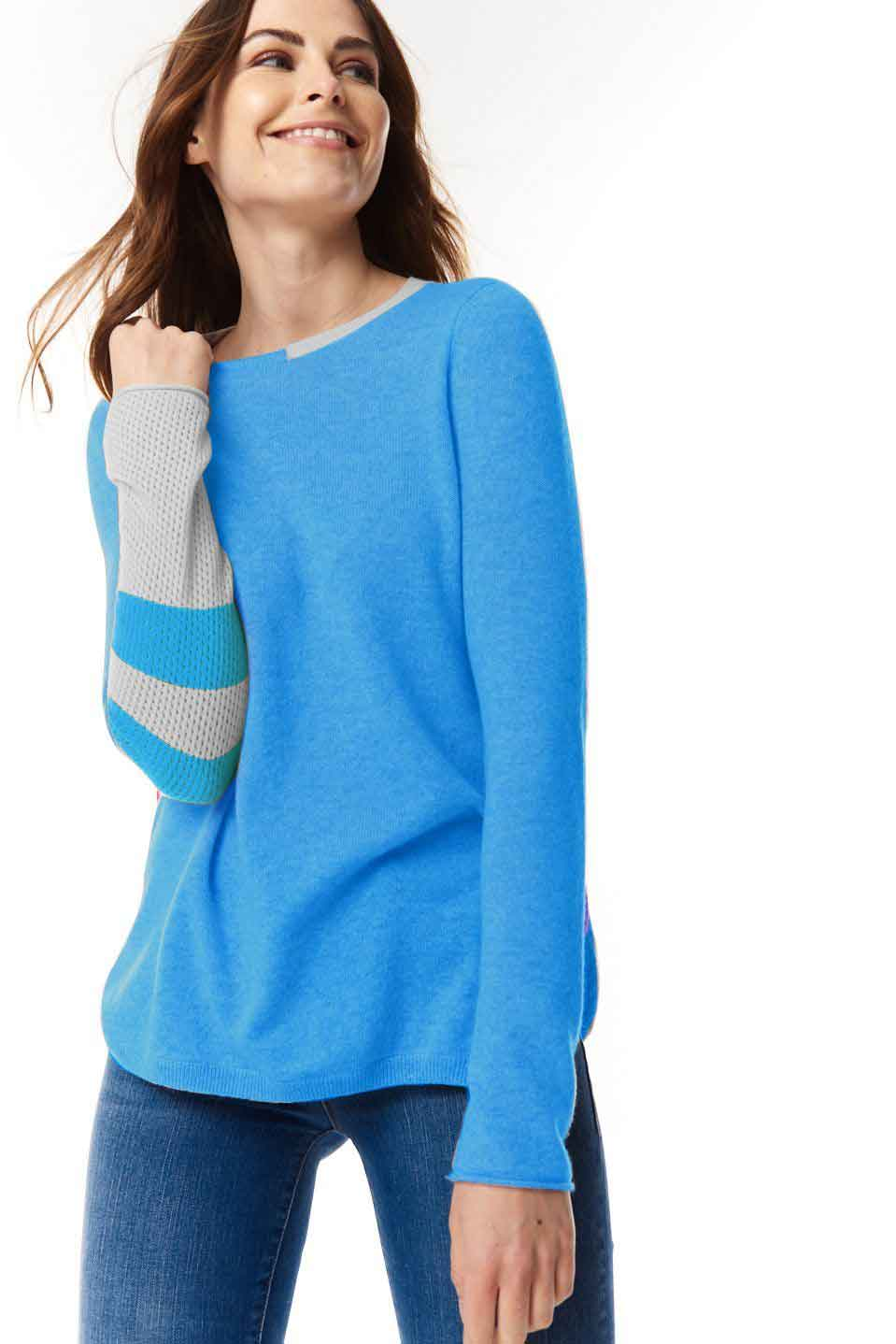 Arm Strong Blue Punch Sweater