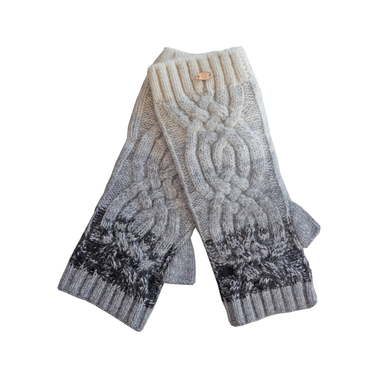 Cashmere Gradient Fingerless Texting Gloves