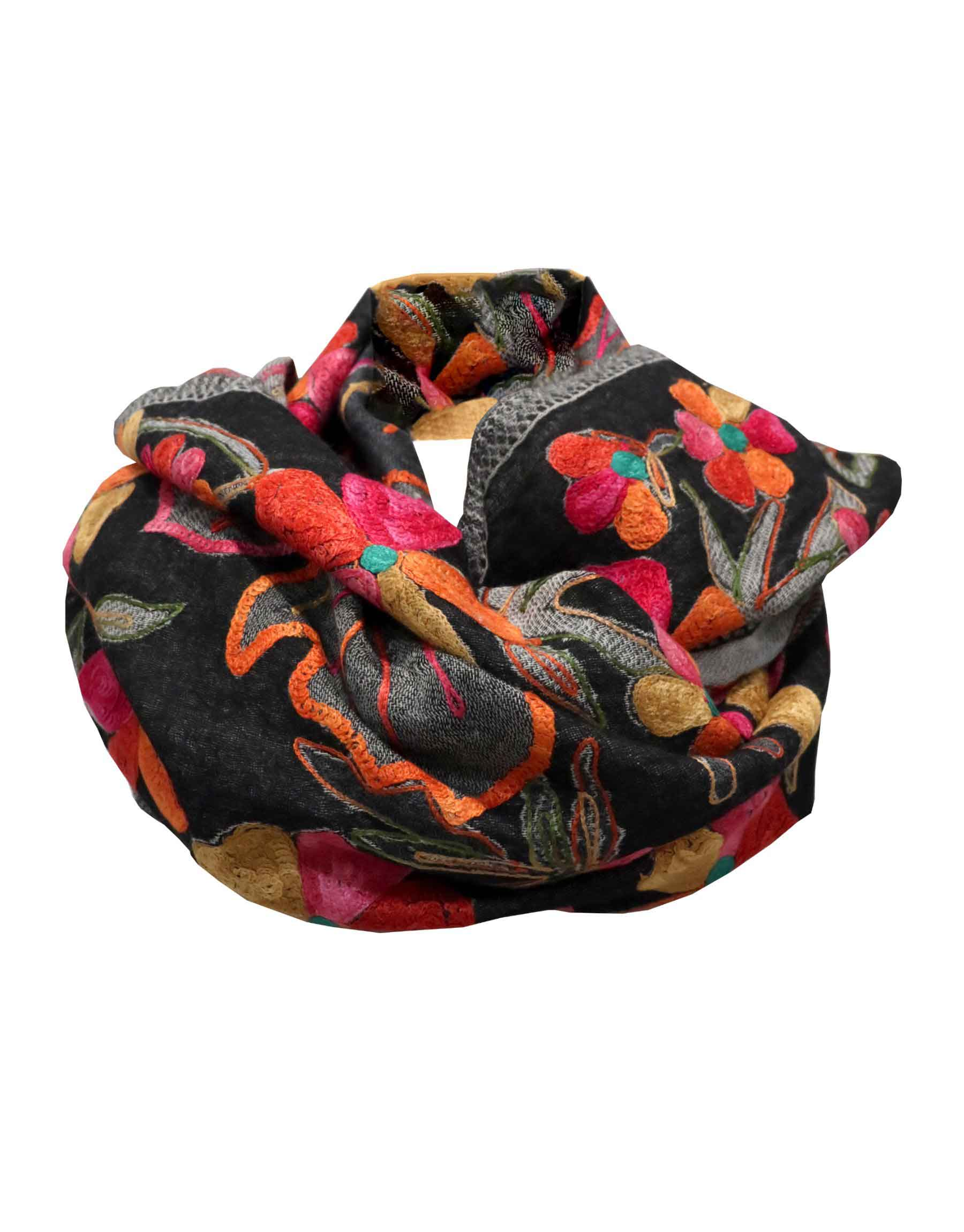 Adhira Hand-Embroidered Wool Stole