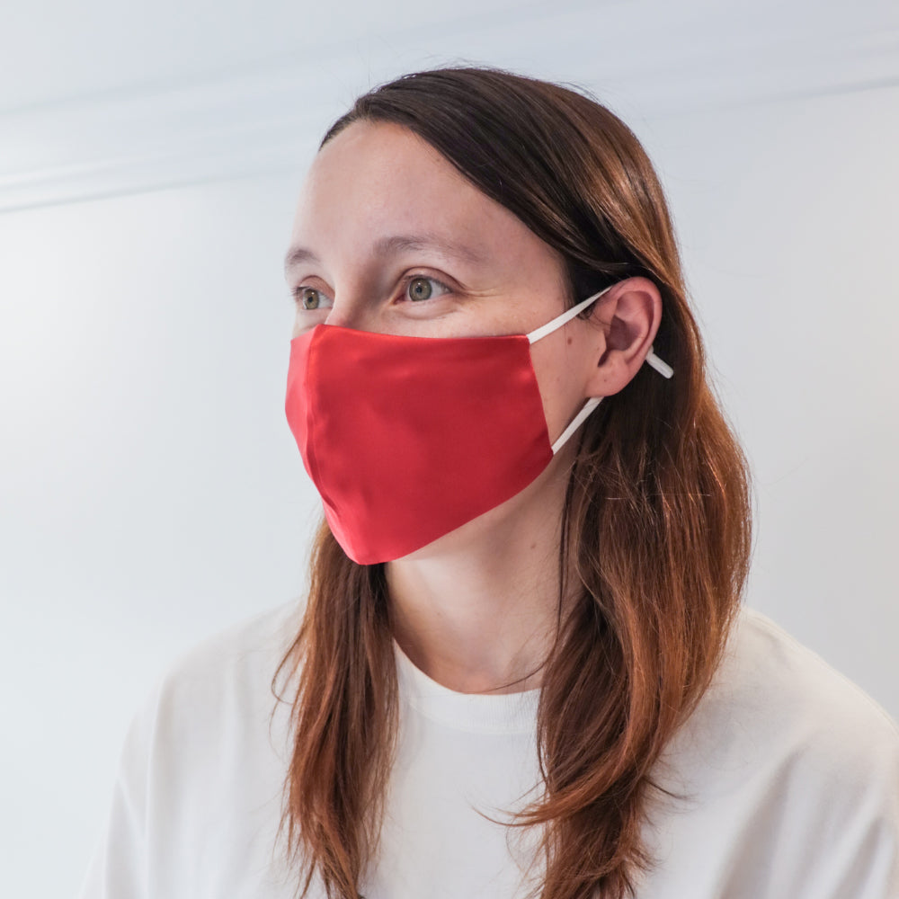 Fashion Face Mask - Paprika Silk