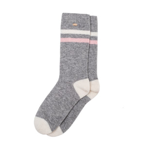 Cashmere Stripe Lounge Socks