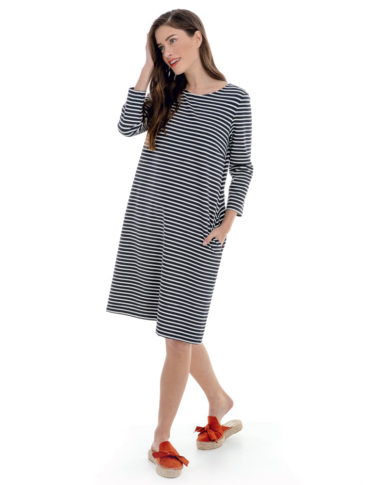 Striped Milano Stitch Dress