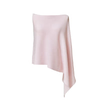 Load image into Gallery viewer, Pink Cashmere Ribbed Poncho Cape