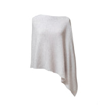 Load image into Gallery viewer, grey Cashmere Ribbed Poncho Cape