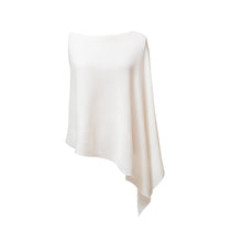 Load image into Gallery viewer, cream Cashmere Ribbed Poncho Cape