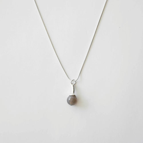 Grey Stone Necklace