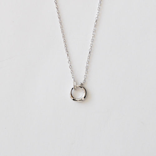 Sterling Silver Necklace With Circle Pendant