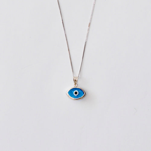 Eye Sterling Silver Necklace