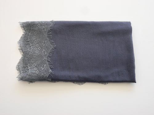 Medium Cashmere and Lace Scarf