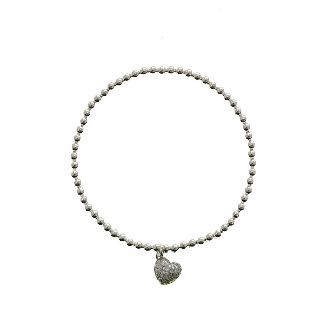 KT Diamond Heart Bracelet