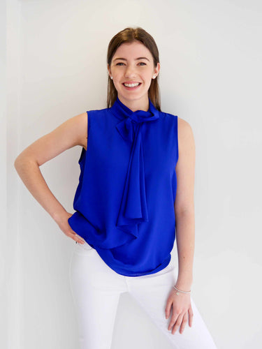 Sleeveless Top With Tie