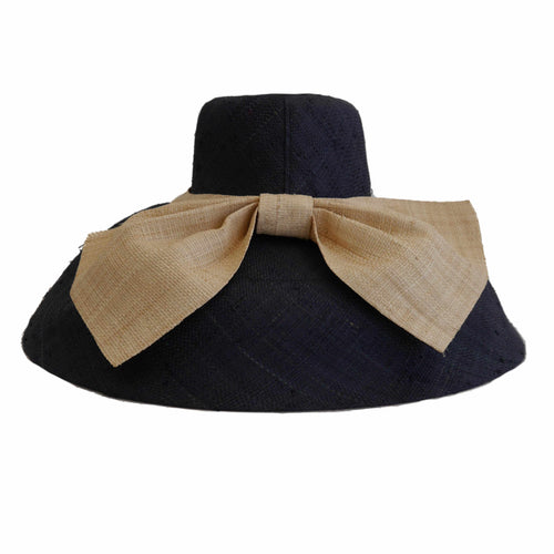 Isabella Large Brim With Large Bow Hat