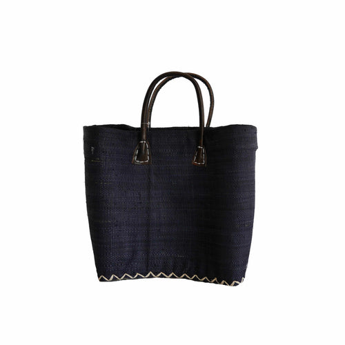 Navy Small Market Basket/Tote