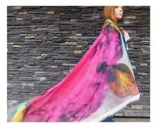 Load image into Gallery viewer, Royal Rose Silk Blend Scarf