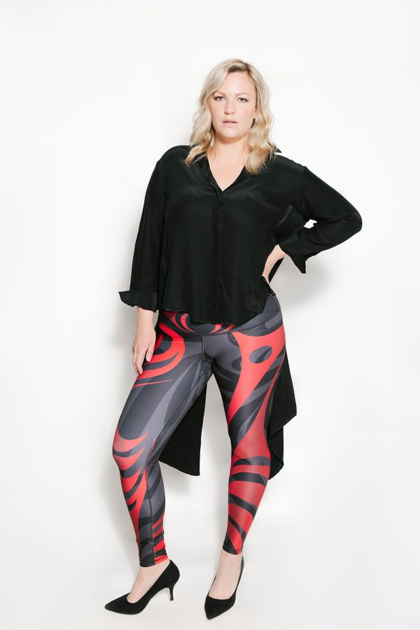 Salmon Run Black Full Length Leggings