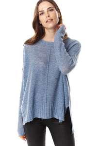 Souffle Chambray Blue Sweater
