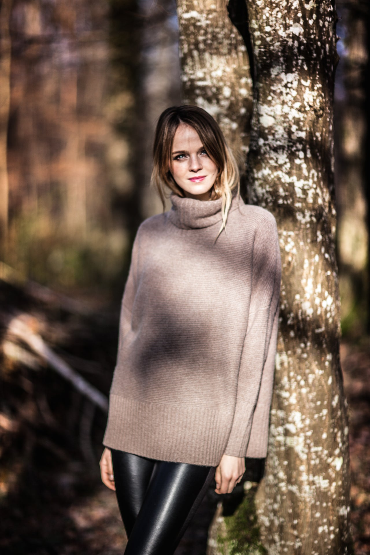Boxy Turtleneck with Rib Detail