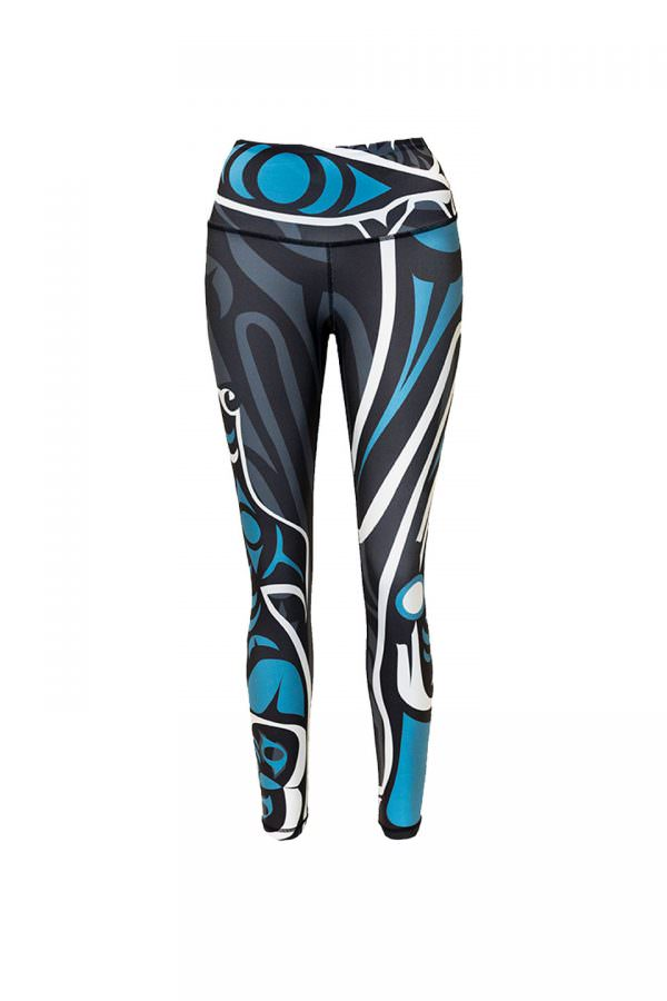 Wolf Teal Full Length Leggings