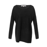 Black Cashmere Boatneck Sweater