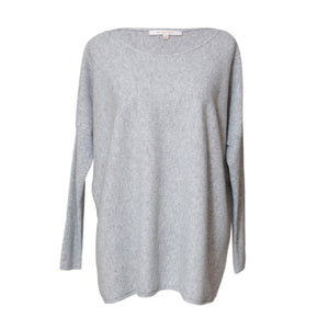Grey Cashmere Boatneck Sweater