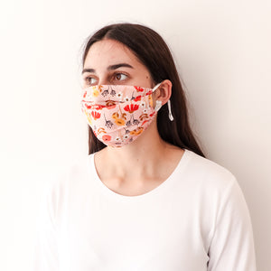 Pleated Fashion Face Mask - Ume Floral Silk