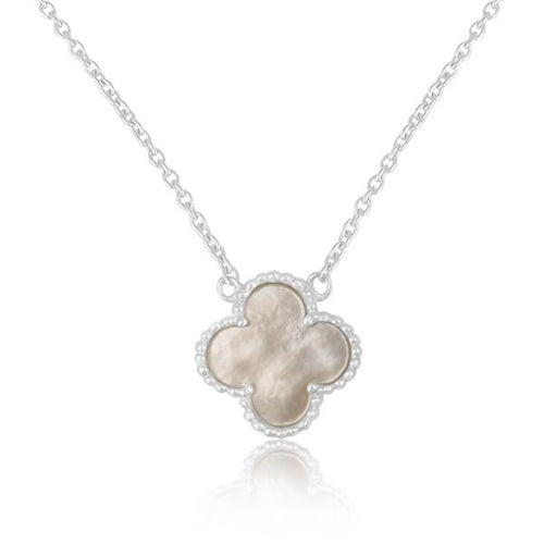 Valentine Rouge Clover Mother of Pearl Necklace