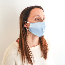 Load image into Gallery viewer, Fashion Face Mask - Dusty Blue Silk
