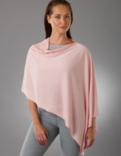 Load image into Gallery viewer, Blush Pink Pansy Poncho Silk Cashmere