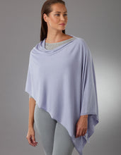 Load image into Gallery viewer, Helio Lavender Pansy Poncho Silk Cashmere
