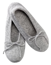 Load image into Gallery viewer, Grey Ballerina Cashmere Slippers