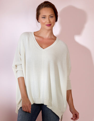 Boxy V Neck Sweater