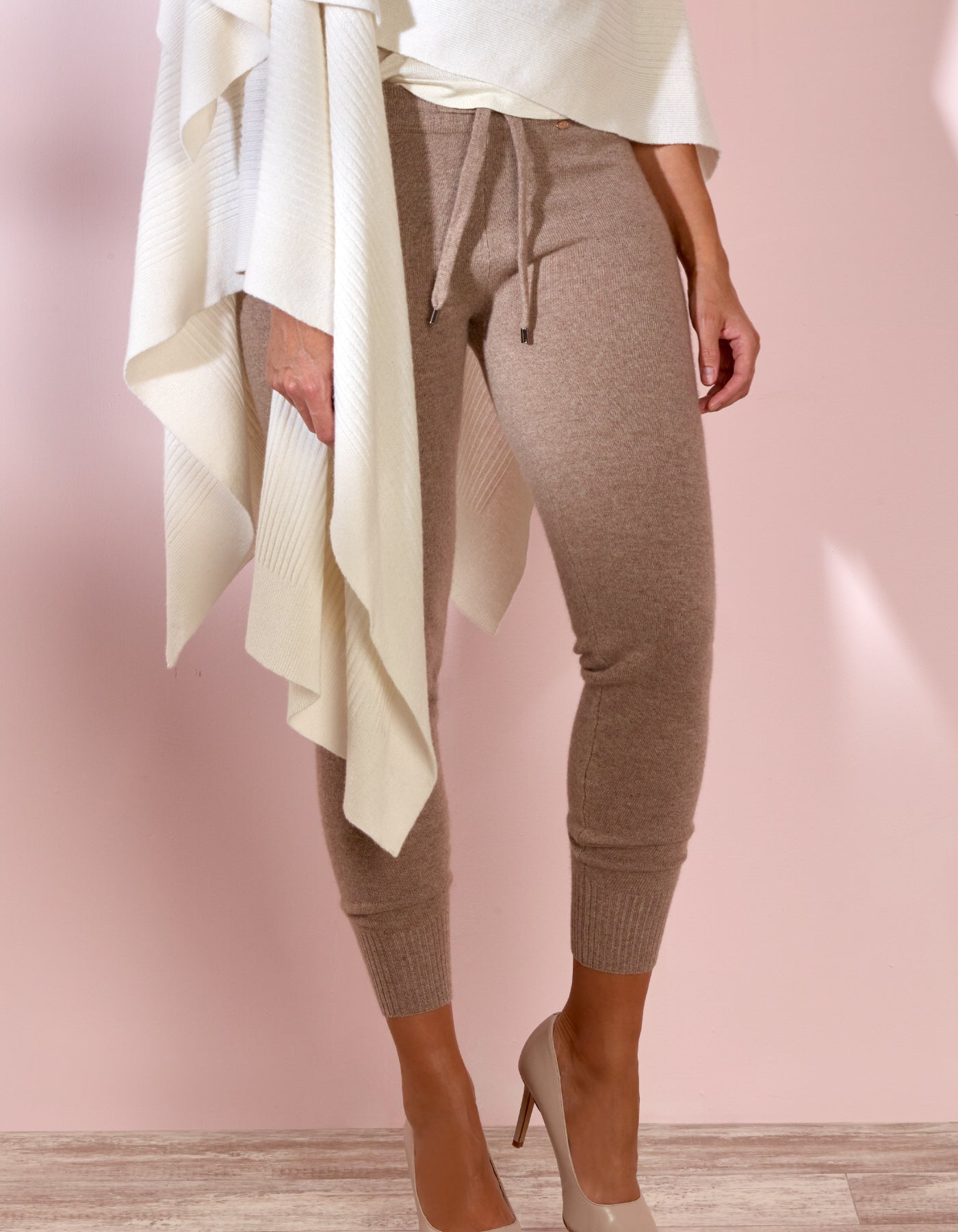 Brown Cashmere Cuff Pant