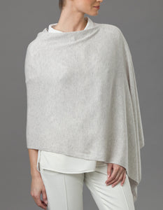 charcoal grey Cashmere Lily Poncho