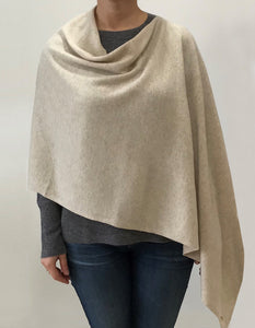 beige Cashmere Lily Poncho