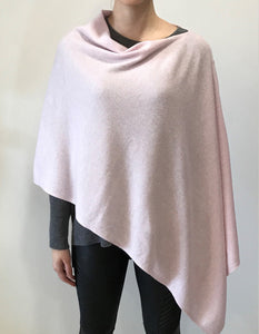 pink Cashmere Lily Poncho