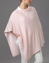 Load image into Gallery viewer, Pink Cashmere Lotus Poncho
