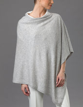 Load image into Gallery viewer, Grey Cashmere Lotus Poncho