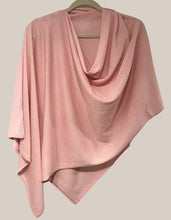 Load image into Gallery viewer, Pink Pansy Poncho Silk Cashmere