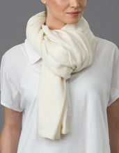 Load image into Gallery viewer, cream  Cashmere Tulip Travel Wrap