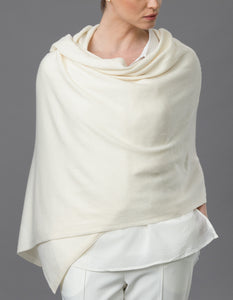cream  Cashmere Tulip Travel Wrap