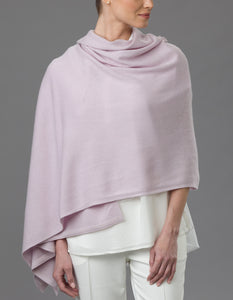 Purple Cashmere Tulip Travel Wrap