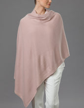 Load image into Gallery viewer, Pink Cashmere Tulip Travel Wrap