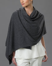 Load image into Gallery viewer, Grey Cashmere Tulip Travel Wrap
